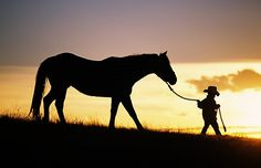 Boy and Horse by Ron Dahlquist