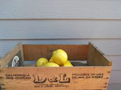 Vintage Wooden Box  Crate Wood Display by alottocollect on Etsy, $20.00 Wooden Storage Boxes, Wooden Boxes, Wood Display, Toy Chest, Crates, Fruit, Cool Stuff, Handmade Gifts, Etsy
