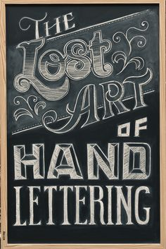 The Lost Art of Hand Lettering #handwriting #lettering #typographydesign #inspiration