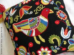 wool embroidery by jytte.se, via Flickr