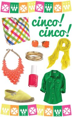 Cinco de Mayo accessories and colors! From Long Distance Lovin via College Prep