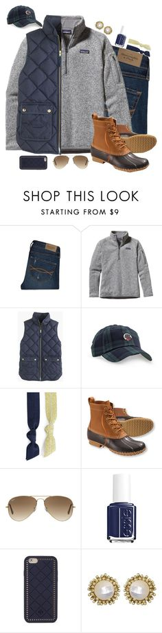 """""""Now You Understand Why Peter Pan Didn't Want To Grow Up"""" by elizabeth-southern-prep ❤ liked on Polyvore featuring Abercrombie & Fitch, Patagonia, J.Crew, Southern Proper, Splendid, L.L.Bean, Ray-Ban, Essie, Tory Burch and Kendra Scott"""