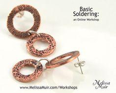 Basic Soldering - An online workshop www.melissamuir.com