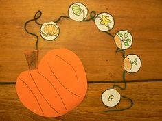 Life Cycle of a Pumpkin   Life Cycle Cards        Pumpkin Life Cycle Bracelet     Read:         1 1/2 inch orange scrapbook paper squar...