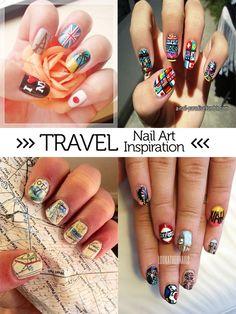 Olympic nail art 2 via nailarthisorian a nail paradise mani mondaytravel nails prinsesfo Images