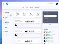 Team page form task managing web dashboard UI Dashboard Interface, Web Dashboard, Dashboard Design, User Interface Design, Project Dashboard, Graphisches Design, Flat Design, Graphic Design, Interior Design