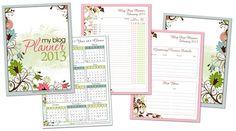 free printable blog planner for 2013