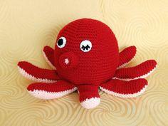 Amigurumi Crochet Pattern - Octopus  Pattern No.19