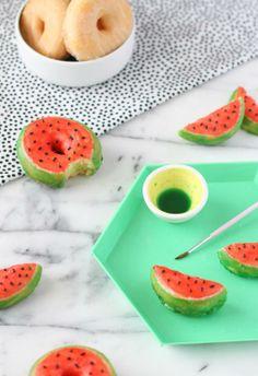 Donut DIY: Watermelon Donuts for Summer.