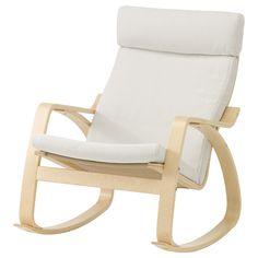 POÄNG Rocking chair - Finnsta white, birch veneer - IKEA