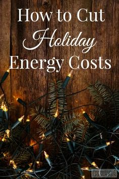 While the lights are a big part of the holidays, they can really add to your energy bill. Here are some holiday energy saving tips to help lower your bill.
