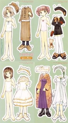 Only Paper Dolls — kalei1412: a kisekae set for Rika, Chiharu and...
