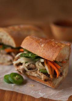 Banh mi Vietnamese pork sandwich, bread