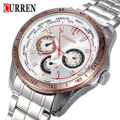 Find More Casual Watches Information about 2015 new curren watches men luxury brand military watch men full steel wristwatches fashion casual waterproof army sports quartz,High Quality watch tools for sale,China quartz watch repair Suppliers, Cheap quartz counter from Headphone Mart on Aliexpress.com