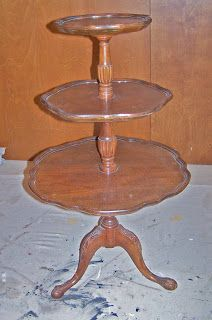 Set Of Mahogany Pie Crust Edged Nest Of 3 Tables Large Table Is Oval In Shape 1900-1950 Antiques