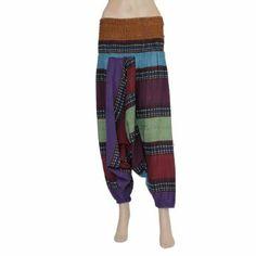 Vêtement décontracté - Pantalon harem multicolor style baba cool - Idée cadeau femmes: Amazon.fr: Vêtements et accessoires
