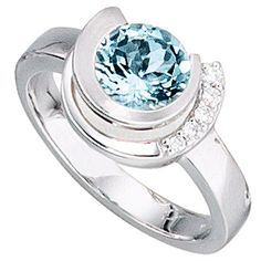 Aquamarin Ring, White Gold Rings, Cute Jewelry, Beautiful Rings, Colored Diamonds, Jewelery, Jewelry Watches, Wedding Rings, Engagement Rings