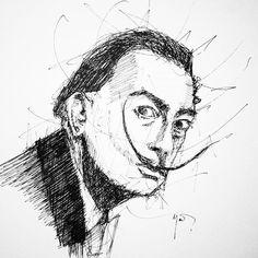 Salvador Dali. #sketch #sketchbook #salvadordali