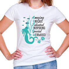 f3f91b1612a Autism Mermaid Women s Girl s Acrostic T Shirt