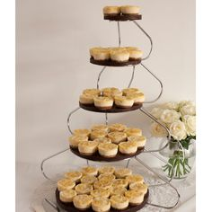 Mini cheesecake wedding cake - awesome idea!