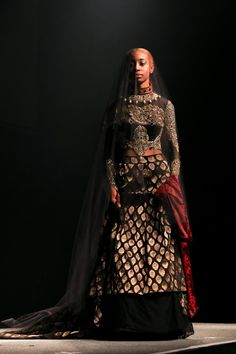 90 credit student Samina Bashir created this beautiful gown inspired by a Persian warrior.   South and City College Birmingham, 2015