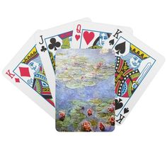 Monet's Water Lillies   Impressionist  Playing Cards