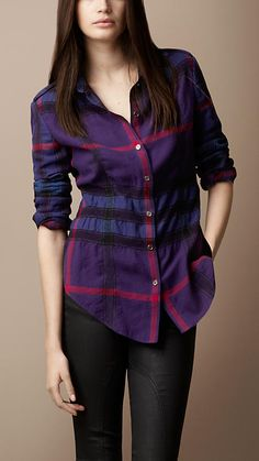 Felted Check Shirt | Burberry