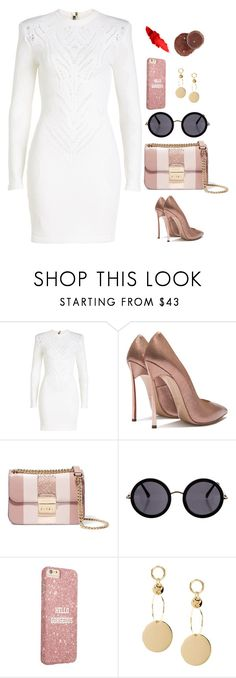 """""""Untitled #681"""" by alibasicamina ❤ liked on Polyvore featuring Balmain, MICHAEL Michael Kors and The Row"""