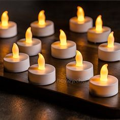 Hayley Cherie ® - LED Tea Lights (Set of 24) - Flameless Tealight Candles - Flickering Amber Yellow Flame - Battery Operated - Wedding Decor, Parties, Gifts Hayley Cherie http://www.amazon.com/dp/B00VQVD9FK/ref=cm_sw_r_pi_dp_fX6Swb1KSH63J