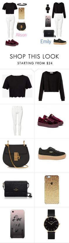 """Emison"" by caitlinkansil on Polyvore featuring Ted Baker, Mother, Puma, Chloé, Kate Spade, Rebecca Minkoff, CLUSE and Humble Chic"