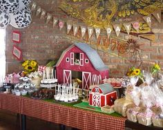 Old McDonald Farm themed birthday party via Kara's Party Ideas KarasPartyIdeas.com Cake, decor, favors, printables, supplies, etc. #farmparty #oldmcdonald #barnyardparty (6)