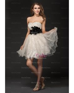 Beading Short Organza Cocktail Dresses