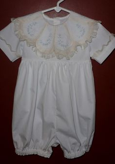 Catheryn Collins' Heirloom Creations: Boy Outfits Little Boy Outfits, Baby Boy Outfits, Mama Cloth, Vintage Baby Clothes, Easter Outfit, Romper Outfit, Christening Gowns, Heirloom Sewing, Baby Sewing