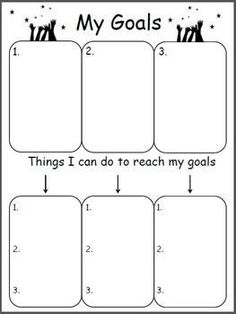 Planning Out My Goals Free Goal Worksheet. My class is really into meeting goals this year. I am going to do this! Counseling Activities, Therapy Activities, Counseling Worksheets, Goal Setting For Students, Data Notebooks, Data Binders, Student Goals, Leader In Me, School Social Work