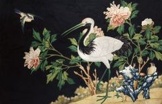 Poster Print-Manchurian Crane Poster sized print made in the USA Landscape Watercolour, Landscape Art, Fine Art Prints, Framed Prints, Canvas Prints, Marble Hill House, Richmond Upon Thames, Affordable Wall Art, Chinese Landscape