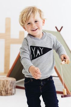 YAY Kids sweater by PaulandPaulaShop on Etsy, $42.00