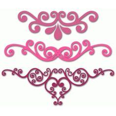 Silhouette Design Store - View Design #63893: three flourishes