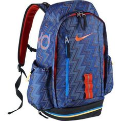 Nike KD Fast Break Back Pack Black / Navy / Atomic Orange BA4715-483  - Click image twice for more info - See a larger selection of school backpacks at http://kidsbackpackstore.com/product-category/school-backpacks/ - kids, kids backpack, school backpack, everyday backpack, school bag, gift ideas, teens backpacks.