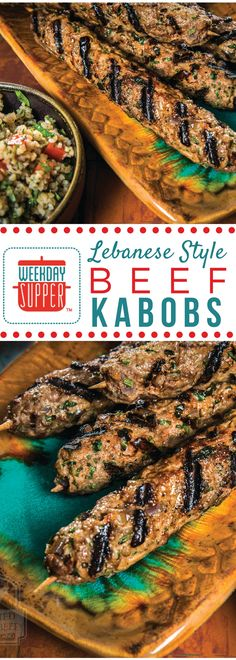 These Lebanese-style Kabobs are seasoned beautifully with a mix of aromatic spices and herbs, perfectly complementing the ground beef. Best of all, they are easy and can be made ahead of time. And they take mere minutes to grill.