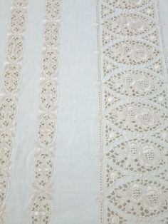 Antique Bed Cover Cream Bedspread with Light Gold by OrlyLa