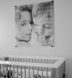 jumbo photo over crib (architects print @ staples)