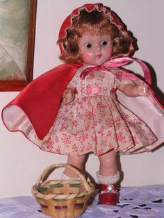 Vogue 1951 Strung Ginny Red Riding Hood Original Complete Adorable Early Doll | eBay