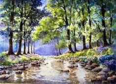 الفنان التايلندي...Thanakorn Chaijinda....لوحات بالألوان المائية...................5