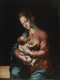 """""""La Virgen y el Niño"""", Luis de Morales, ca. 1565."""