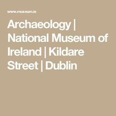 Archaeology | National Museum of Ireland | Kildare Street | Dublin
