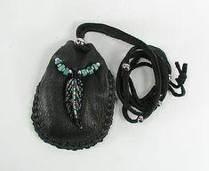 Authentic Native American Owl Spirit Buckskin Medicine Bag by Apache artist Cynthia Whitehawk
