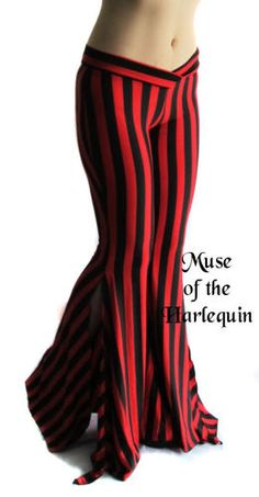 Black Red Gothic Stripes Tribal Belly Dance Pant s Victorian Lolita Cyber Punk   eBay