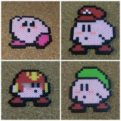 Kirby Bead Sprite  Super Smash Brothers  8 bit by DCBPerlerSprites
