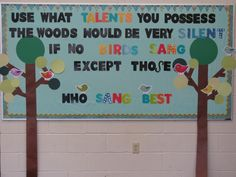 Kodaly Inspired Classroom: The Woods Would Be Very Silent {Bulletin Boards} Music Classroom, Classroom Themes, Classroom Organization, Classroom Walls, Classroom Design, Future Classroom, Class Bulletin Boards, Bullentin Boards, Christian School