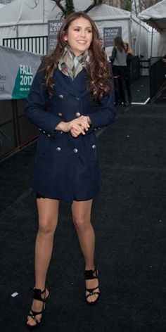 NIna Dobrev seen around Lincoln Center in New York during Fall 2012 Mercedes-Benz Fashion Week.